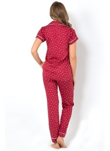 Doremi Pijama Takım Bordo